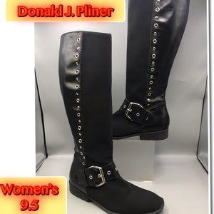 Donald J Pliner Women's Fashion KneeHigh Boots 9.5